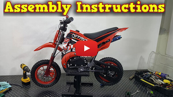 Video Instructions how to assemble DS67 50cc Mini Dirt Bike Kids Motorbike