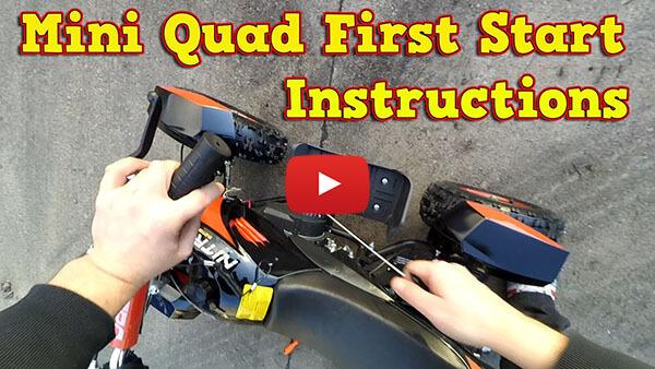 Quad 50cc  First Start Instructions - Pocket Quad 50cc ATV Cobra 2