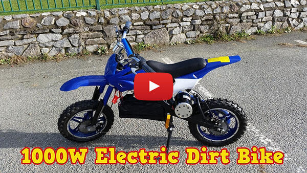 Video Review about APOLLO 1000W 36V Electric Dirt Bike Kids Motorbike