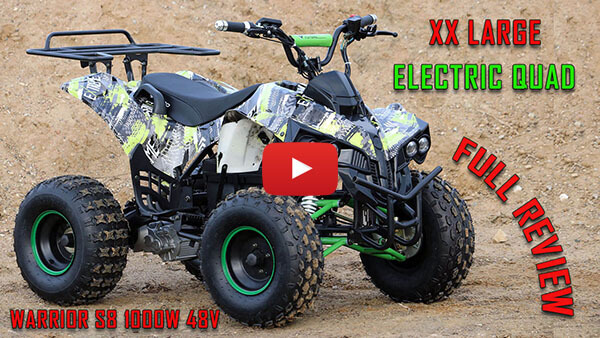 Video Review about Warrior S8 1000W 48V XXL Kids Electric Quad Bike