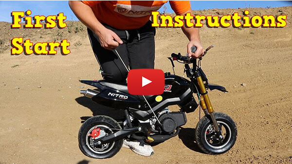Video Instructions how to start engine in Hobbit Sport 50cc Pocket Bike Super Motard