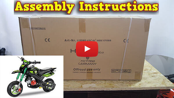 Video Instructions how to assemble Hobbit Sport 50cc Pocket Bike Super Motard