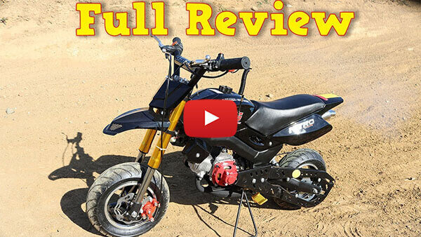 Video Review about Hobbit Sport 50cc Pocket Bike Super Motard