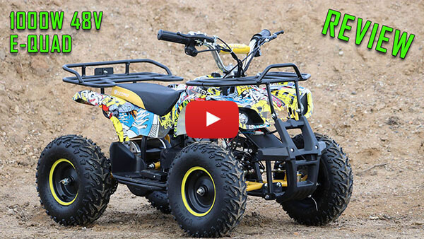 Video Review about Torino 1000W 48V KKids Electric Quad Bike