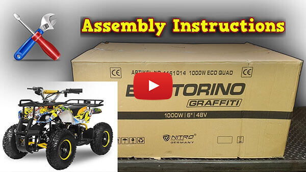 Mini Quad Torino 1000W 48V Unboxing - Full Assembly Instructions