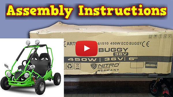 Video Instructions how to assemble 450W 36V Kids Electric Mini Buggy