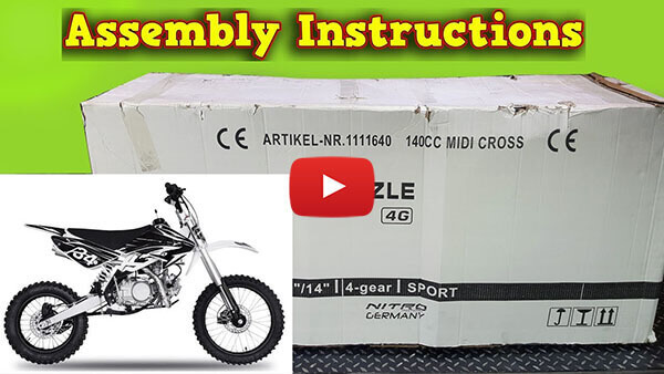 Drizzle 140ccm Pit Bike - Unboxing - Full Assembly Instruction -  Nitro Motors
