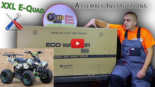 Video Instructions how to assemble Warrior S8 1000W 48V XXL Kids Electric Quad Bike