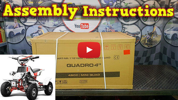 Video Instructions how to assemble Quadro 49cc PETROL KIDS MINI QUAD BIKE