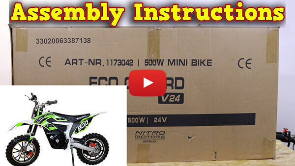 Video Instructions how to assemble GEPARD 500W 24V Electric Dirt Bike Kids Motorbike