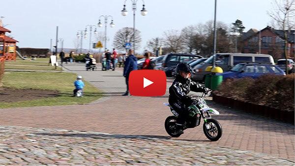 GEPARD 500W 24V Electric Dirt Bike Kids Motorbike Test ride video
