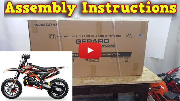 Video Instructions how to assemble Gepard Deluxe Tuning 50cc Mini Dirt Bike Kids Motorbike