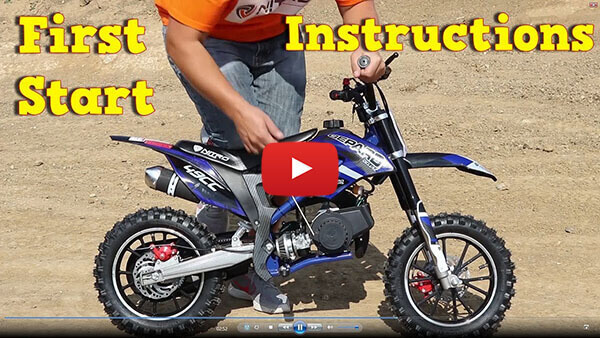 Video Instructions how to start engine in Gepard Deluxe Tuning 50cc Mini Dirt Bike Kids Motorbike