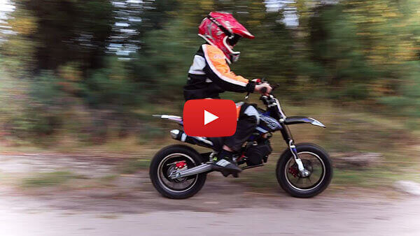 Gepard Deluxe Tuning 50cc Mini Dirt Bike Kids Motorbike Test ride video