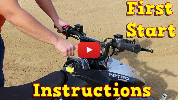 Video Instructions how to start engine in Jumper RG7 125cc PETROL KIDS MIDI QUAD BIKE