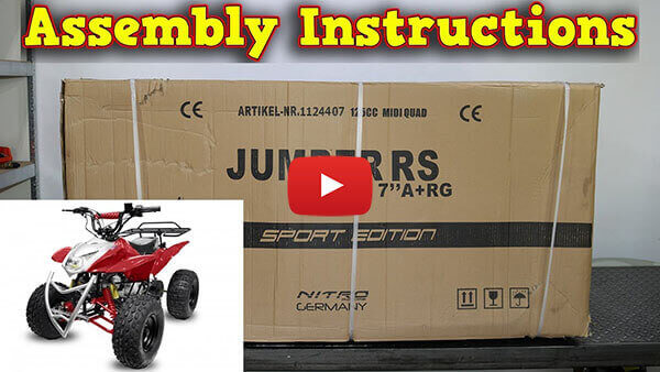 Video Instructions how to assemble Jumper RG7 125cc PETROL KIDS MIDI QUAD BIKE