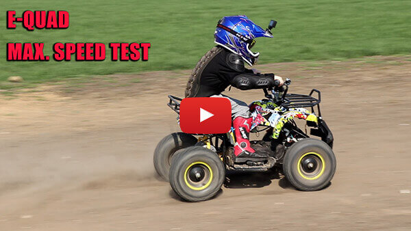 Maximum speed test - Torino 1000W 48V Kids Electric Quad Bike
