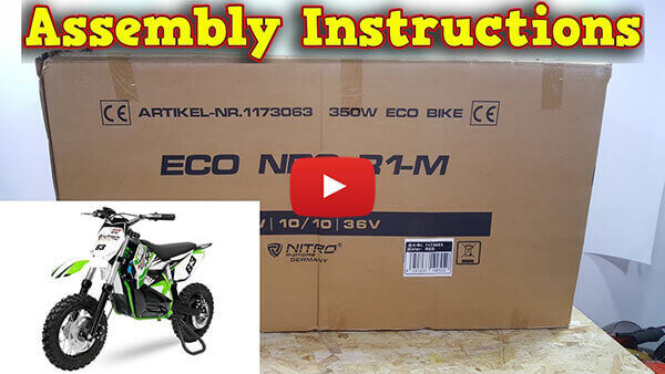 Video Instructions how to assemble NRG R1-M 350W 36V Electric Dirt Bike Kids Motorbike