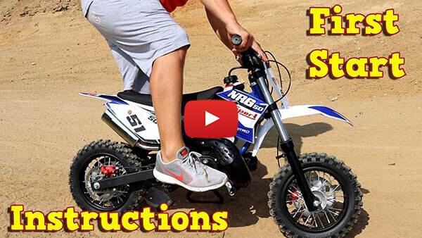 Video Instructions how to start engine in NRG50 50cc Dirt Bike Motorbike Motocross 9HP KTM Replica 10
