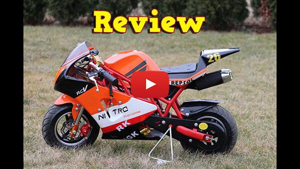 Video Review about PS50 Rocket Sport 50cc Pocket Bike Mini Moto