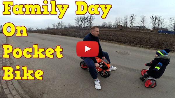 PS50 Rocket Sport 50cc Pocket Bike Mini Moto Test ride video