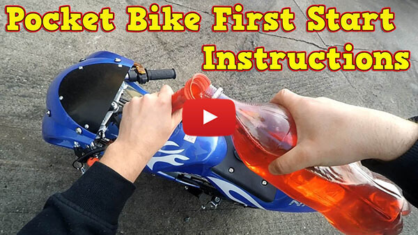 Video Instructions how to start engine in PS77 50cc Pocket Bike Mini Moto Racing Bike