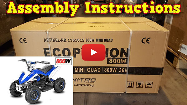 Video Instructions how to assemble Python 800W 36V KIDS ELECTRIC QUAD BIKE