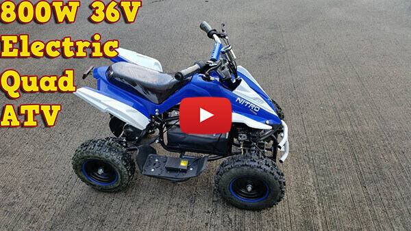 Video Review about Python 800W 36V KIDS ELECTRIC QUAD BIKE