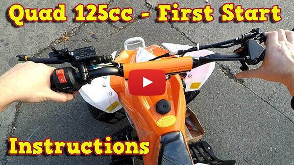 Quad 125ccm, 110cc - First Start Instructions + Test Ride Speedy RG7