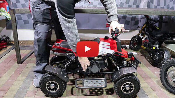 Video Instructions how to start engine in Quadro 49cc PETROL KIDS MINI QUAD BIKE