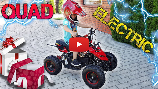 ELECTRIC QUAD for 3rd Birthday. Repti 800W from Nitro Motors