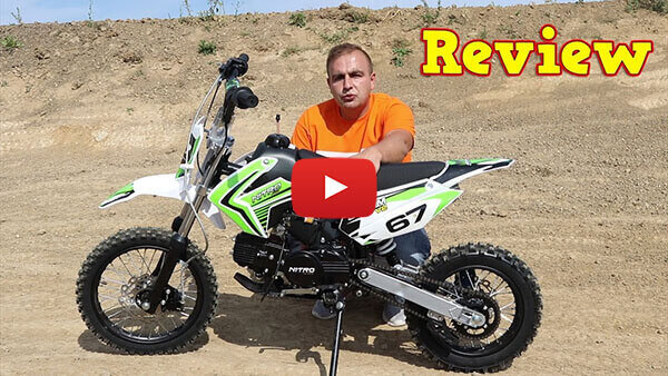 Video Review about Storm 110cc SEMI-AUTOMATIC PIT BIKE - DIRT BIKE