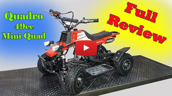 Video Review about Quadro 49cc PETROL KIDS MINI QUAD BIKE