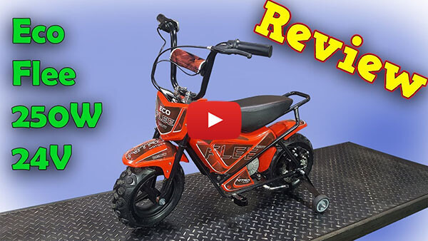 Video Review about Eco Flee 250W 24V Electric Dirt Bike Kids Motorbike
