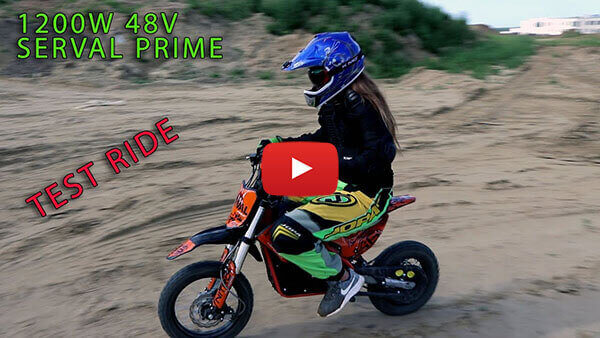 Serval Prime 1200W 48V Electric Kids Dirt Bike in Action !!!