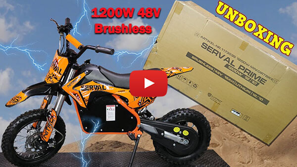 Video Instructions how to assemble Serval Prime 1200W 48V Electric Dirt Bike Kids Motorbike