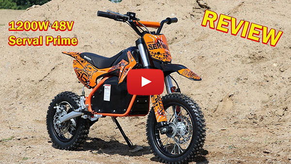 Video Review about Serval Prime 1200W 48V Electric Dirt Bike Kids Motorbike
