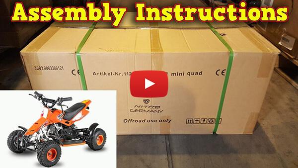 Video Instructions how to assemble Sios Deluxe 49cc PETROL KIDS MINI QUAD BIKE