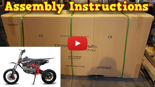 Video Instructions how to assemble Sky Deluxe 125cc PIT BIKE - DIRT BIKE - MOTORBIKE XL