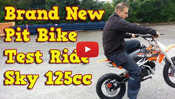 Sky Deluxe 125cc PIT BIKE - DIRT BIKE - MOTORBIKE XL Test ride video