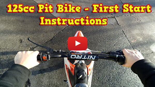 Pit Bike, Dirt Bike 125ccm - First Start - Instructions + Test Ride Sky from Nitro Motors