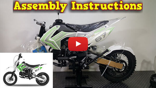 Video Instructions how to assemble Storm 110cc AUTOMATIC PIT BIKE - DIRT BIKE