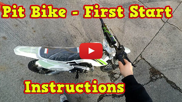 Video Instructions how to start engine in Storm 110cc AUTOMATIC PIT BIKE - DIRT BIKE