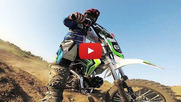 Storm 110cc Pit Bike - Test on Motocross Track -Nitro Motors