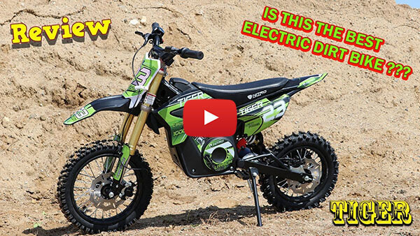 Video Review about Tiger 1100W 36V LI-ION Electric Dirt Bike Kids Motorbike