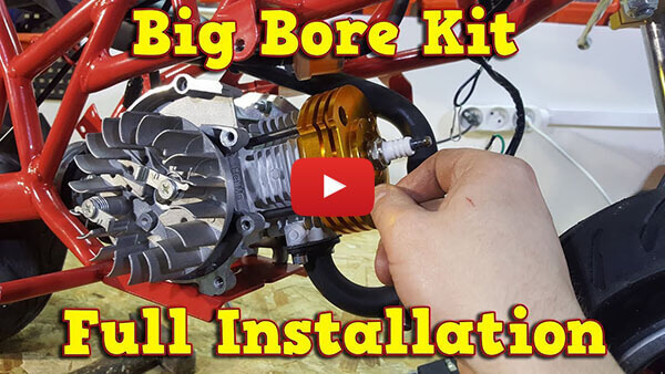 Video instructions how to instal Big Bore Kit in 50cc engine