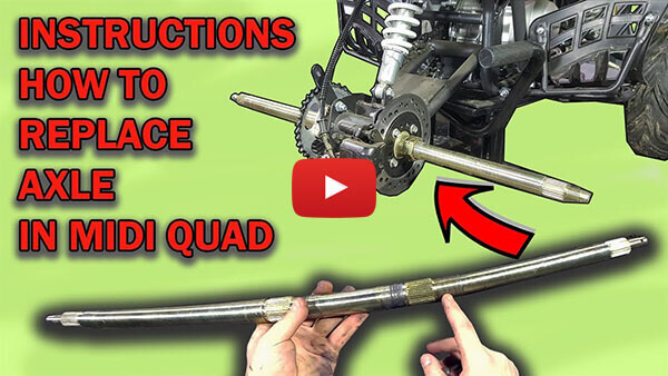 Video instructions how to replace rear axle in 125cc Quad