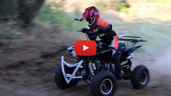 Jumper RG7 125cc PETROL KIDS MIDI QUAD BIKE Test ride video