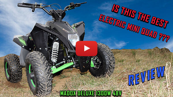 Madox Deluxe 1300W 48V Electric Quad Bike with Neodymium magnet motor, lthium-ion battery - Video Review