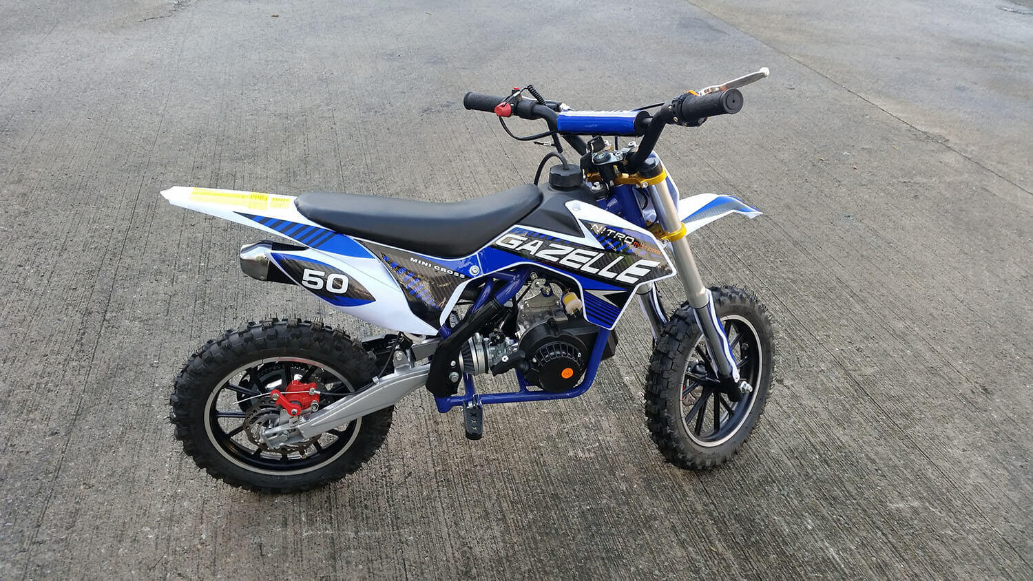 Gazelle Deluxe 50cc Mini Dirt Bike Kids Motorbike, Nitro Motors, Mini Bikes Store